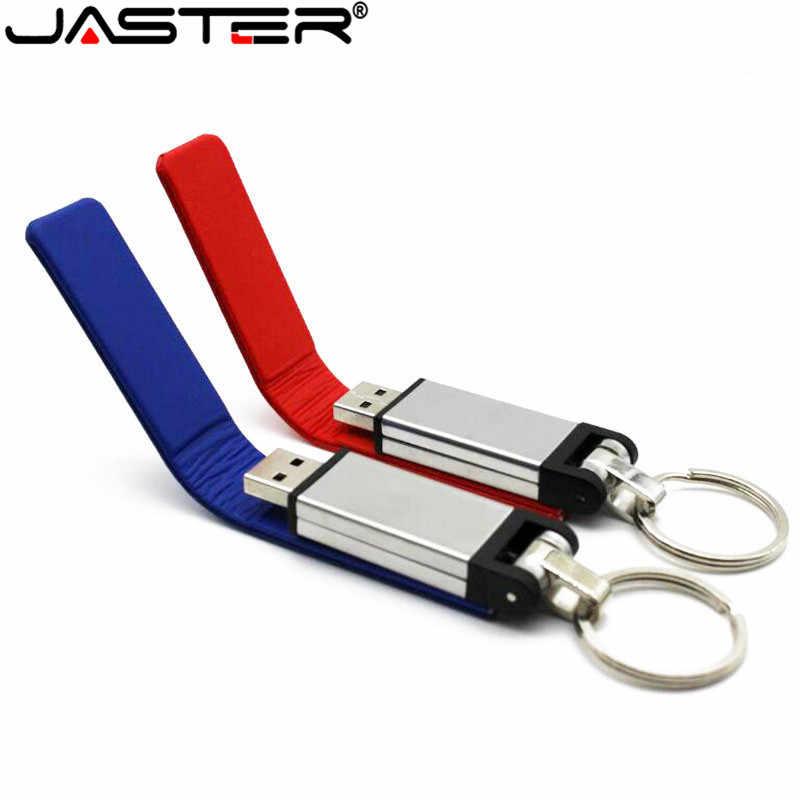 JASTER moda chaveiro de pele de couro usb flash drive pendriver gb gb 32 16 8 gb memory stick 4 comercial gb 64 gb Bom presente
