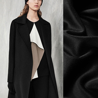150CM Wide 370G/M Weight 82% Wool 18% Cashmere Soft Smooth Black Blue Fabric for Autumn Winter Coat Clothes Overcoat DE798