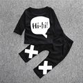 Sun Moon Kids 2016 New Baby Boys Clothes Cotton Newborn Baby Girl Clothes Long Sleeve T-shirt + Pants Unisex Infant Clothing