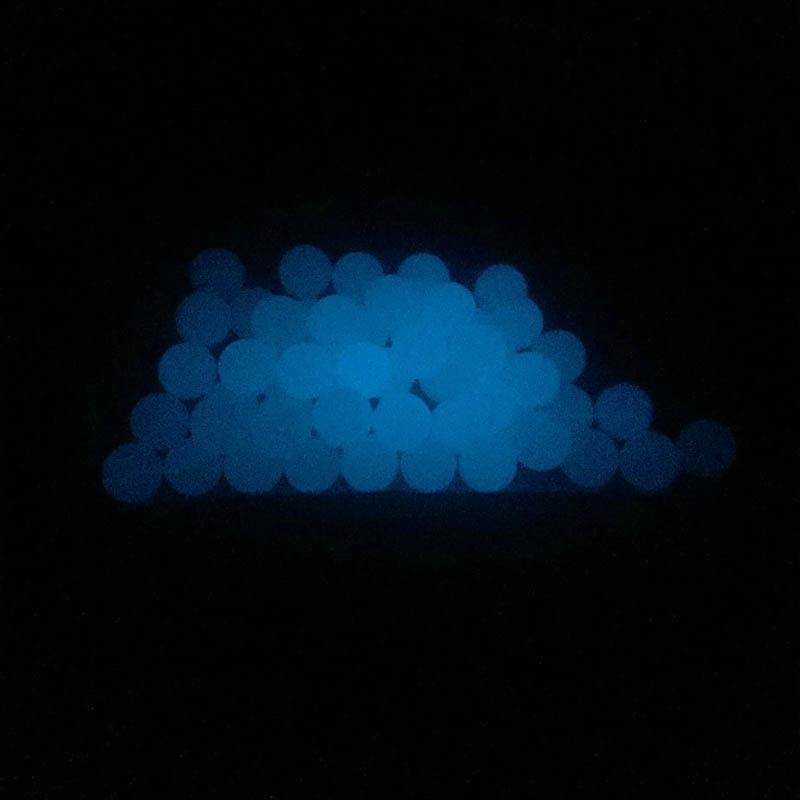 OD 6mm 8mm Clear Luminous Quartz Pearls Ball Luminous Glowing Blue Green Clear Quartz Pearl For Quartz Banger Nails Glass Bongs 2