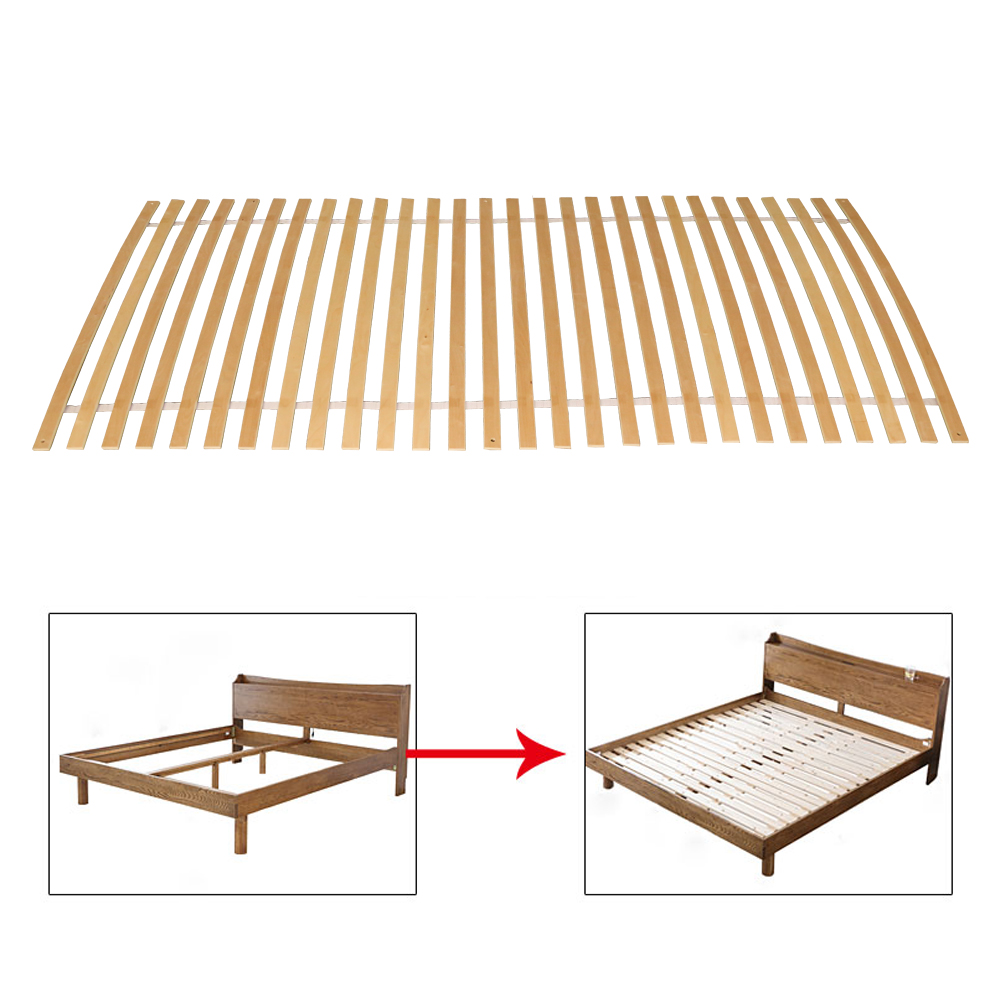 Modern Style Bed Slatted Solid Wood Bed Support Slats For Bedroom Furniture 900/1000mm Size Comfortable Bed Frame