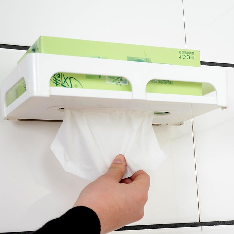Delightful Kitchen Magic Reviews #4: Magic Flexible Sticker Plastic Toilet Paper Holder Toilet Paper Holder Toilet Paper Storage Racks Kitchen Shelf Bathroom Shelf