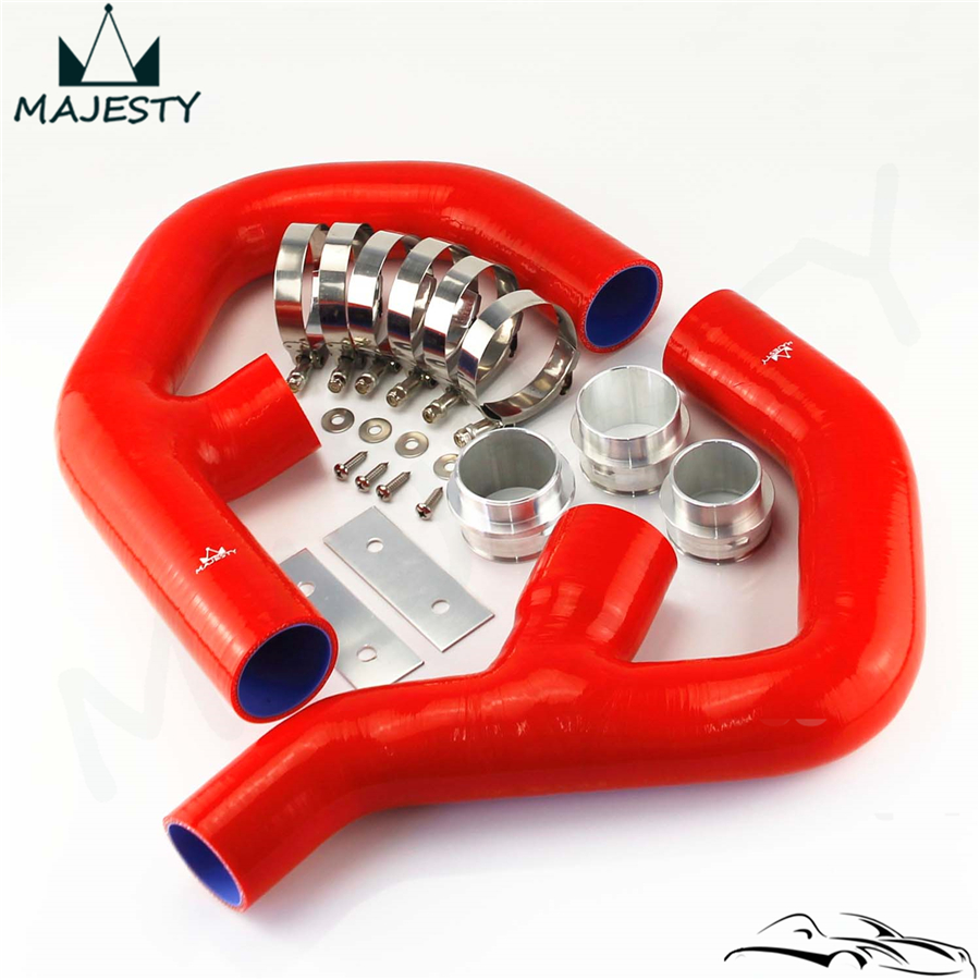 Red Silicone Intercooler Hose Fittings Fits For Vw Golf Mk5 Mkv Gti 2 0 Fsi T 06 09 Silicone Intercooler Hose Intercooler Hose2 0 Fsi Aliexpress