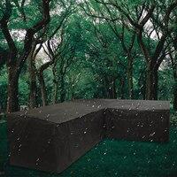 L-образный садовая мебель пылезащитный чехол пылезащитный угловой диван полуостров патио Дождь Снег стул крышка протектор