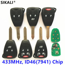 Remote Key for JEEP CE0888 Model Liberty Wrangler Commander Grand Cherokee Compass Patriot Keyless Entry Transmitter 433MHz