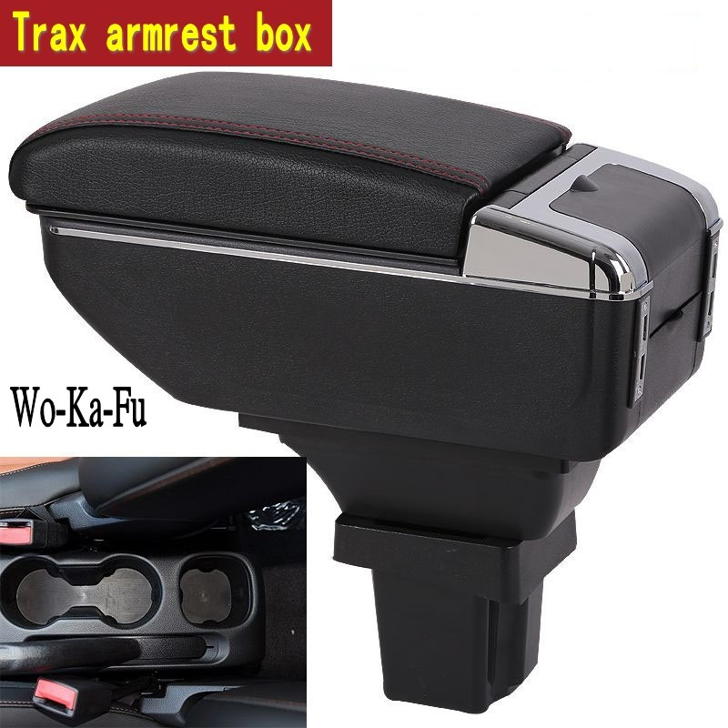 For Chevrolet Trax armrest box central Store content box products interior decoration Storage Center Console accessories universal leather car armrest central store content storage box with cup holder center console armrests free shipping