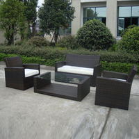 4 pcs cane sofa Pastoralism Home Indoor / Outdoor Rattan Sofa For Living Room
