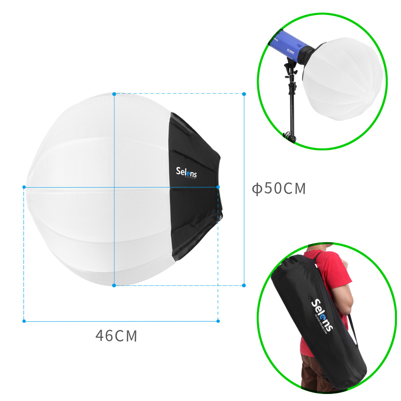Photography Diffuser Softbox 50cm Round Balloon Ball Softbox For Camera Photo Studio Flash Quick release ashanks photography lights photo studio softbox kit photo equipment of fill light for camera photo studio diffuser