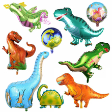New Dinosaur party Foil Animal Balloons childrens Birthday Party Jurassic World DecorationsToy BabyShower supplies
