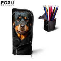 Multifunction Children School Pencil Bags Girls Makeup Cosmetic Cases Cute Rottweiler Dog Pen Box Pouch Holders