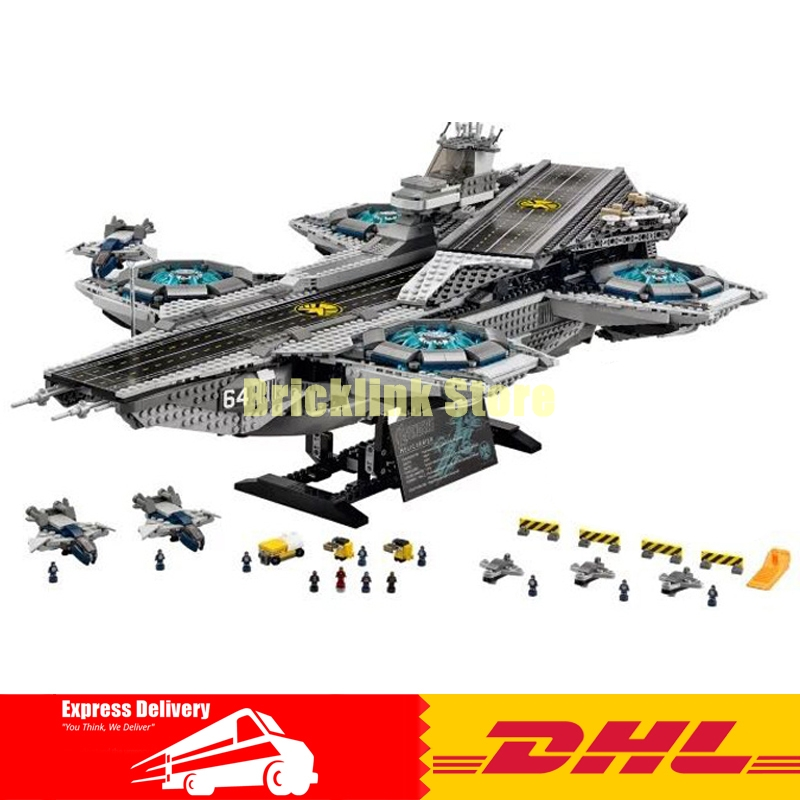 Lepin 07043 Super Heroes The Shield Helicarrier Model Building Kits Blocks Bricks Toys Compatible 76042