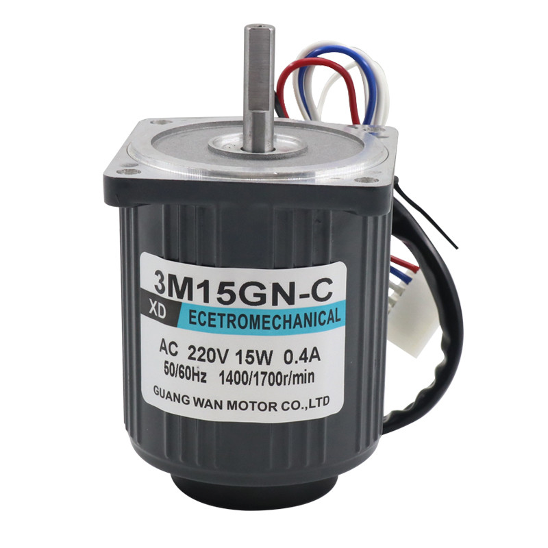 220V AC 15W Gear Motor 3M15GN C Mini Speed Regulating Motor with Speed Controller 1400RPM Reversible Adjustable Speed