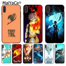 MaiYaCa Mangá Fairy Tail TPU Macio Silicone Transparente Phone Case para iPhone 5 8 7 6 6S Plus 5S SE XR X XS MAX Coque Shell(China)