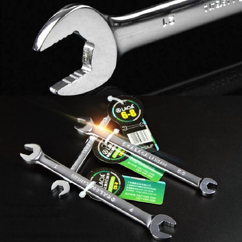 LAOA CR-V nyitott csavarkulcs duplafejű nyitott végű csavarkulcs - Kézi szerszámok - Fénykép 3
