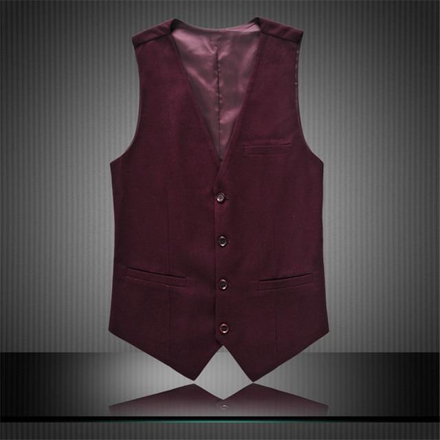 2015 de tres piezas equipada Blazer negocios chaleco chaqueta chaqueta de hombre Masculino alta calidad chaqueta hombres más el tamaño 6XL hombres chaleco