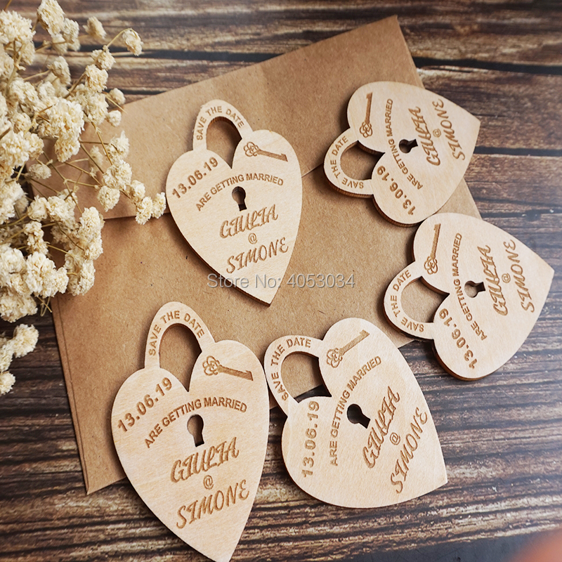 Rustic Wedding Magnets SAVE the DATE MAGNETS for Wedding  Wood Save the Date Magnets Laser Engraved Wood Wooden Fridge Magnet