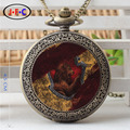 """""""Harry Potter"""" Gryffindor watch magic academy high school students to do the old classic pocket watch chain table DS333"""
