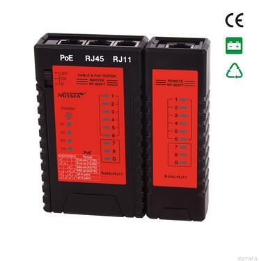 Free shipping, Noyafa NF-468PT POE Tester Detection of POE standard RJ45 RJ11 Cable tracker Network Cable Tester free shipping noyafa nf 8601 newest design network wire tracker cable tester with ce rj45 rj11 bnc poe ping