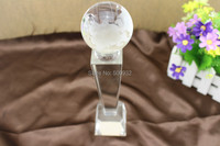 Wholesale supply a variety of crystal globe trophy crystal trophy crystal ball sports