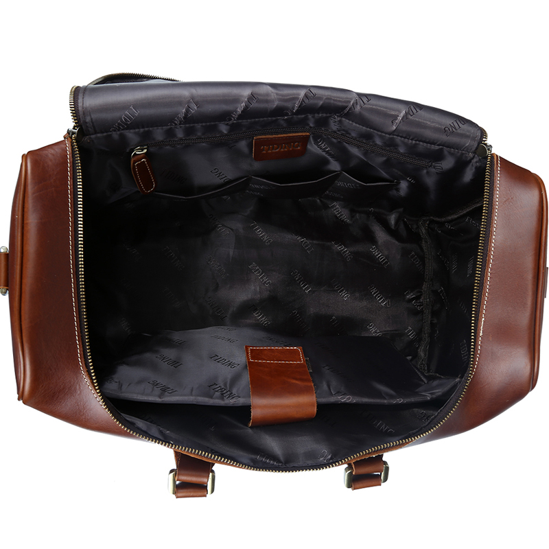 Aliexpress.com : Buy TIDING Leather Duffle Bag For Men Women ...
