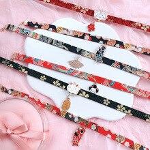 Doreen Box Classic Japanese Style Ribbon Rope Doll Choker Cute Romantic Women Girls Bird Cat Carp Pendant Short Necklace Jewelry
