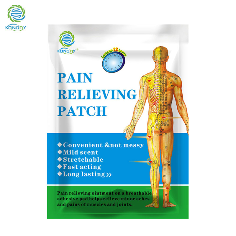 KONGDY New Arrival 6 Pieces in One Box Pain Relieving Patch 7x10cm Medical Equal to Salonpas Pad Pain Relief Shoulder Pain Patch cookery postcards 100 cookbook covers in one box