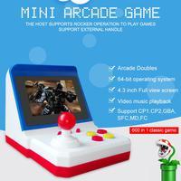 Retro Mini Arcade FC Red White Handheld SUP Rocker Game Console 600 Game Retro Arcade 8BIT Restoring Ancient Ways Mini Arcade F