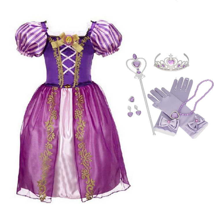 Queen Elsa Dresses Movie Cosplay Costume Anna Princess Dress Fancy Party Children Clothes