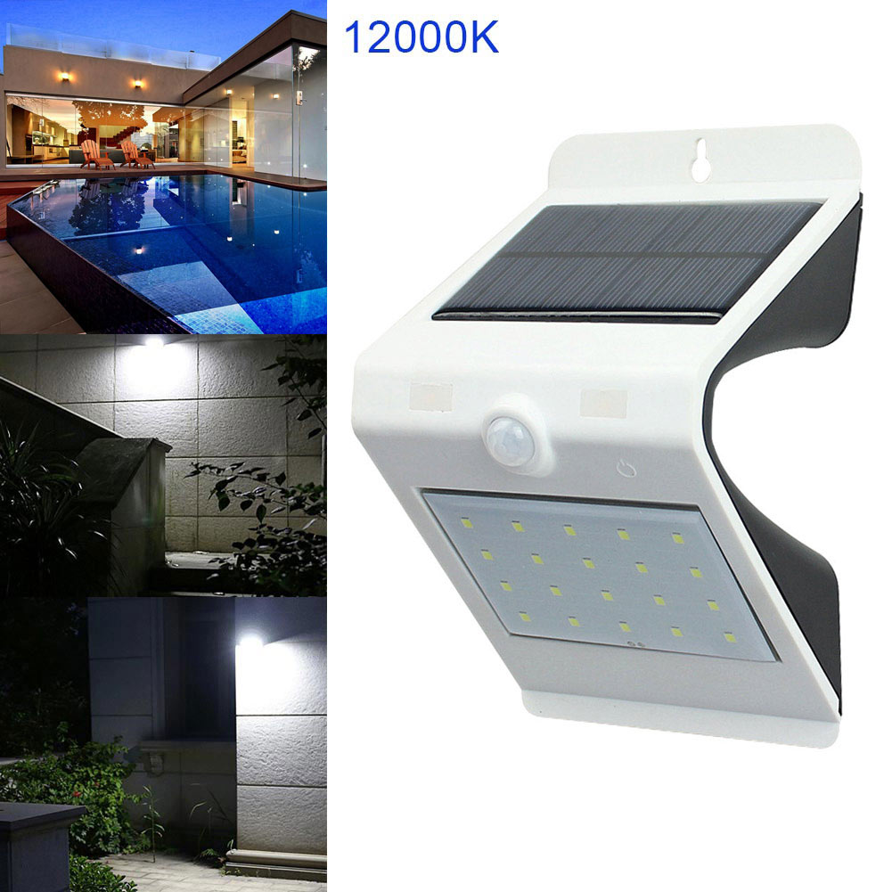 Fashion Wall Light LED Solar Power Motion Sensor Outdoor Waterproof Security Energy Savi ...