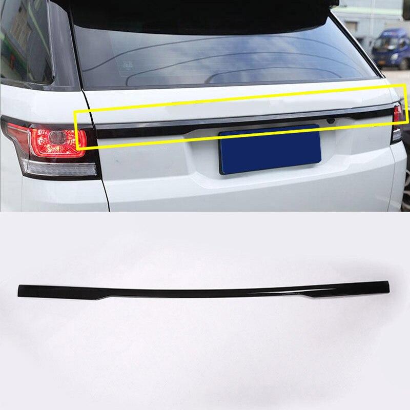 Garniture de couvercle de coffre arrière en Chrome ABS noir brillant pour Range Rover Sport 2014 2015 2016 2017 2018 2019 accessoires de voiture de Sport RR