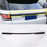 Gloss Black ABS Chrome Rear Trunk Lid Cover Trim For Range Rover Sport 2014 2015 2016 2017 2018 2019 RR Sport Car Accessories