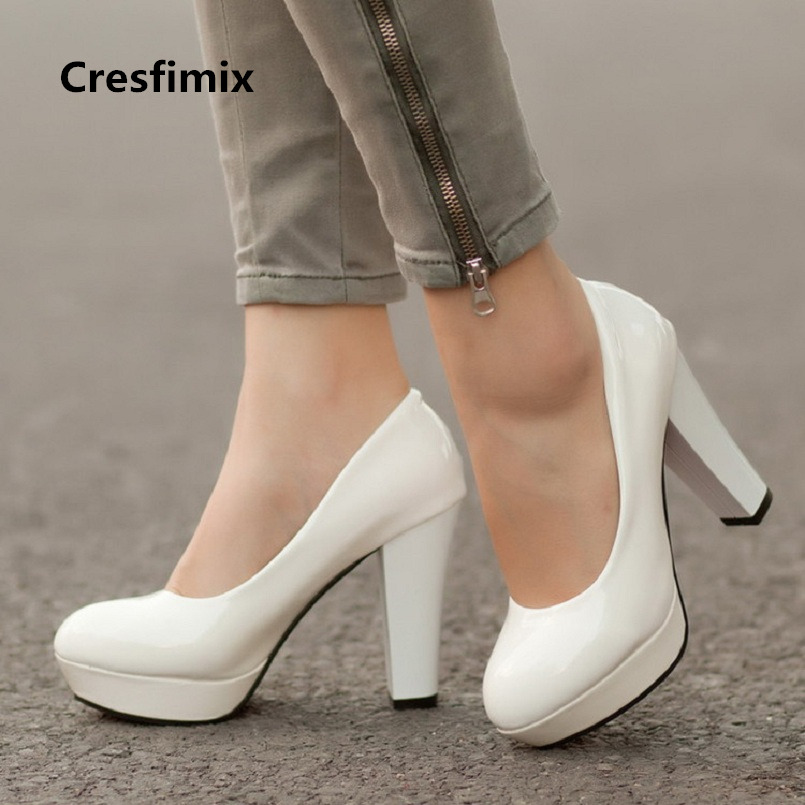Cresfimix women fashion comfortable pu leather slip on 11cm high heel pumps lady casual plus size high heel shoes zapatos a2363 newest car optical fiber decoder most box for 2004 2012 mercedes benz slk w171 r171 slk200 amplifier bose harmon kardon decode