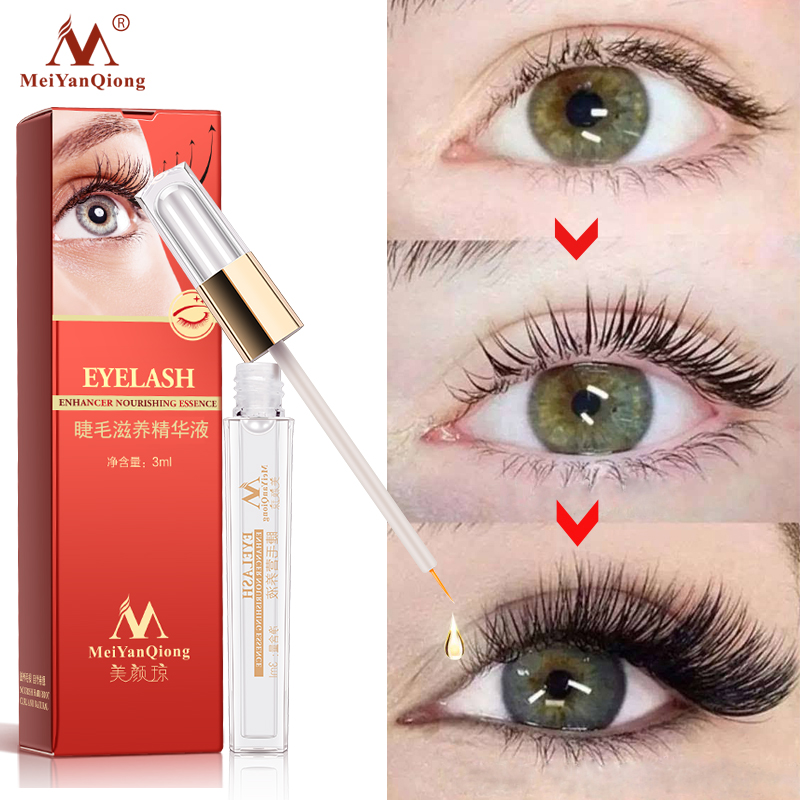 Eyelash Enhancer Herbal Eyelash Growth Serum Lashes Mascara Lengthening Longer Eyes Care Eyelash Extension Powerful Makeup in Eyelash Growth Treatments from Beauty Health