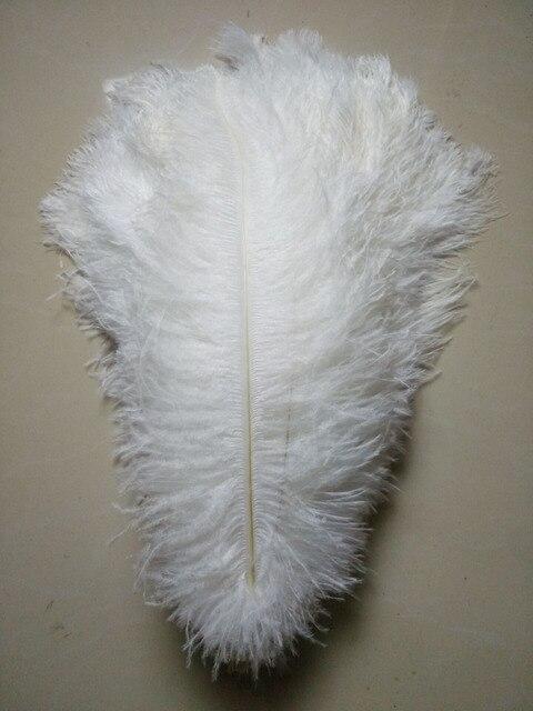 50 pc qualidade penas de avestruz branco, 16 18 polegadas/40 45 cm, DIY decorações de casamento
