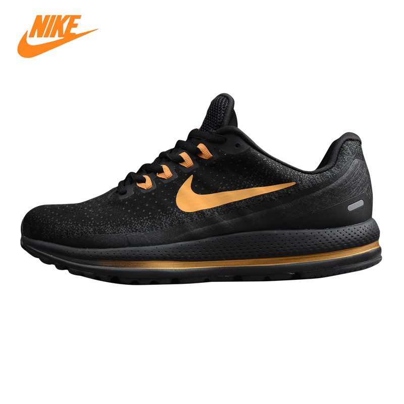 NIKE AIR ZOOM VOMERO 13 Men's Running Shoes, Gold & Black,Wear-resistant Breathable Lightweight Shock Absorption 922908 009