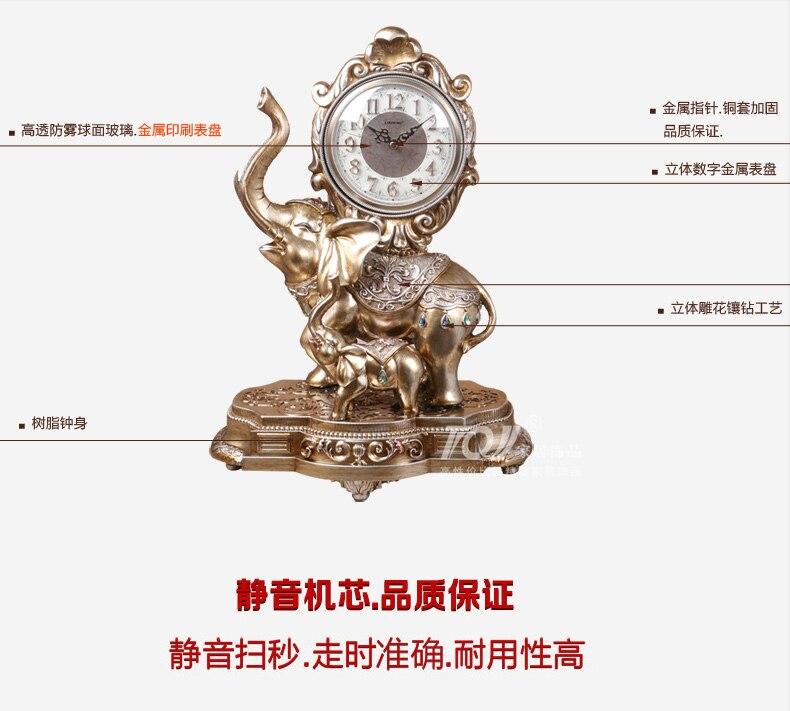 1 pçs estilo europeu relógio de cabeceira