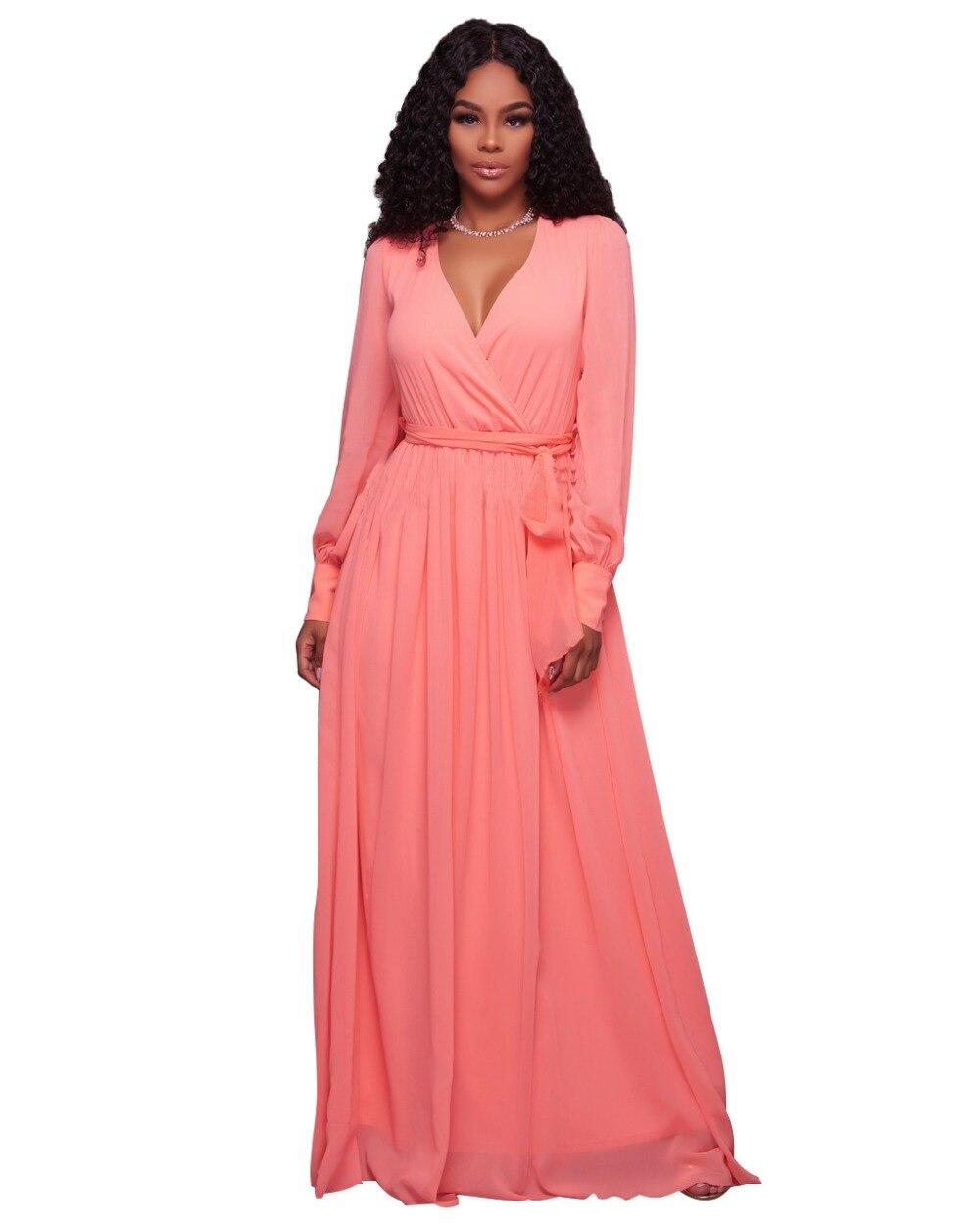 Long maxi dresses for women summer sleeves