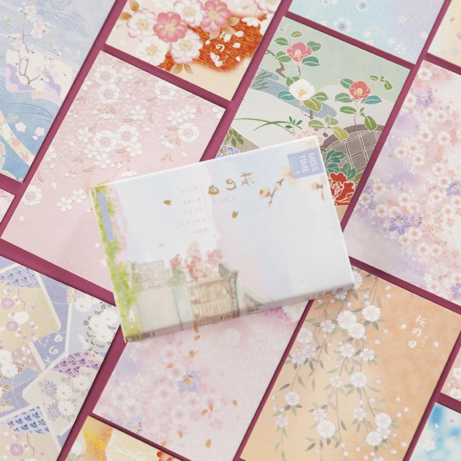28 Sheets/Set Cherry Blossom Season Series Lomo Card Mini Paper Postcard Message Card Gift Greeting Card