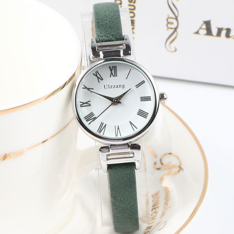 Small Dial Vintage Leather Women 39 s Watches Luxury Casual Charm Ladies Wristwatches Simple Style Women Dress Roman Numeral Clock in Women 39 s Watches from Watches