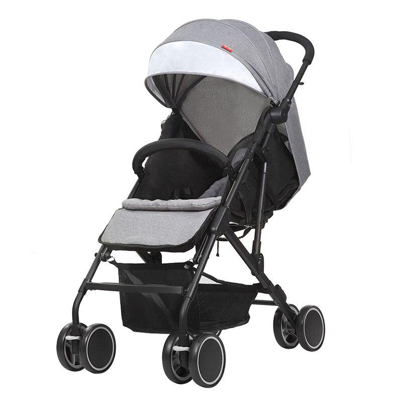 Hot Selling Infant Stroller Ultralight Folding Pushchair Baby Travel Pram Kid Car Carriage Kinderwagen Four Wheels