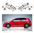 Flores etiqueta Do Carro 3D com pvc 46*25 cm 2 pcs/par emblemas do carro película de carbono à prova d' água reflexivo vw polo mazda 3 kia rio