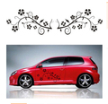 flowers  Car 3D sticker  with pvc  46*25cm  2pcs/pair  car emblems  carbon film  waterproof reflective  vw polo mazda 3 kia rio