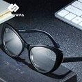 0b55e42784 UNIEOWFA Retro ojo de gato gafas de sol de las mujeres óptica gafas miopía  TR90 gran