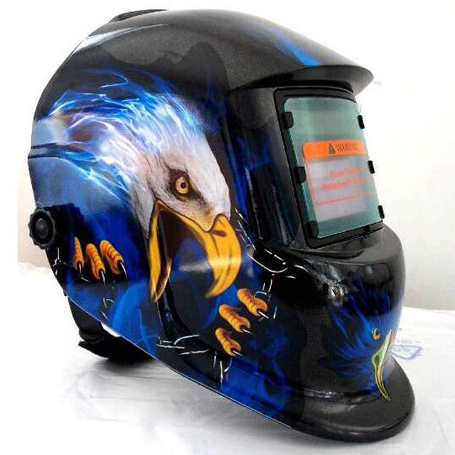 Solar oscurecimiento automático de soldadura casco mig tig arc soldador cabeza fresca de Eagle patrones de soldadura máscara de protección ultravioleta sensor de arco
