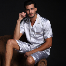 Men's Silk Summer Pajamas with Shorts