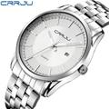 relogio masculino CRRJU Luxury Brand Full Stainless Steel Analog Display Date Men's Quartz Watch Business Watch Men Watch