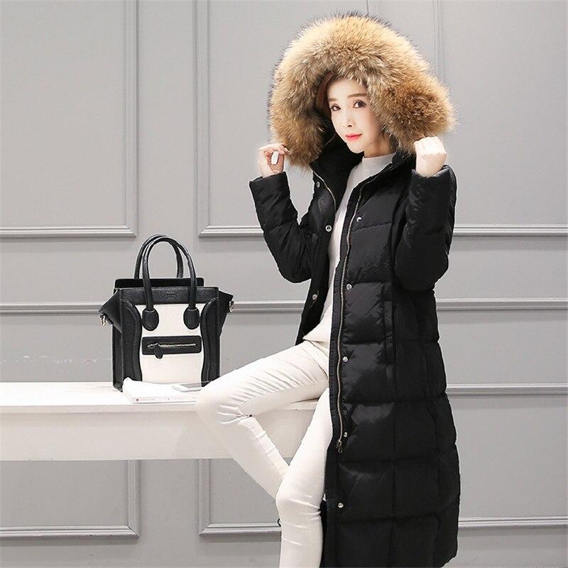 Down D'hiver Mujer Veste St342 Long Femmes Fourrure Capuchon Nouvelle Chaqueta À Parkas 2018 De black Épaississent Grand Chaud Col Femme Grey Vestes Mode Eqw7xfHp