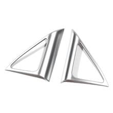 Для Audi Q3 2012 2013 2014 2015 2016 2017 ABS Матовый Интерьер Высокой Динамик Рамка крышка планки 2 шт. стайлинга автомобилей аксессуары!