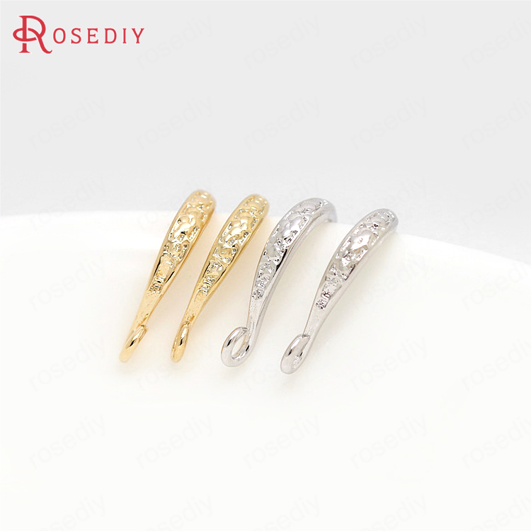 3 color can picked 12PCS 9x15MM 24K Gold Color Plated Brass Earrings Hooks High Quality Diy Jewelry Accessories