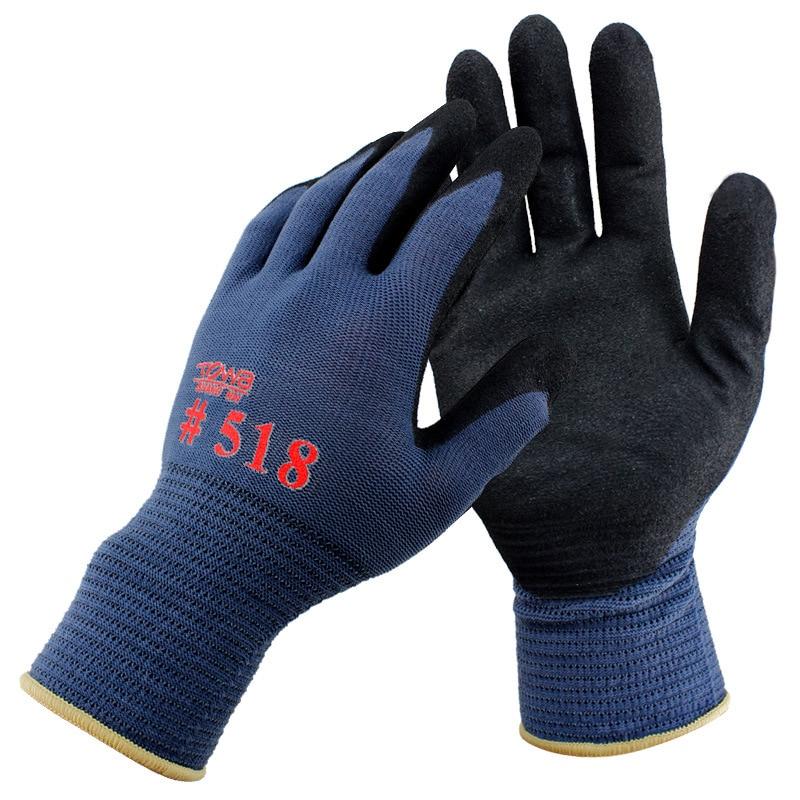 3Pairs/Pack Mechanics Work Gloves Breathe Waterproof Nitril Coating Nylon Safety Garden Gloves Gardening ,Construction Gloves